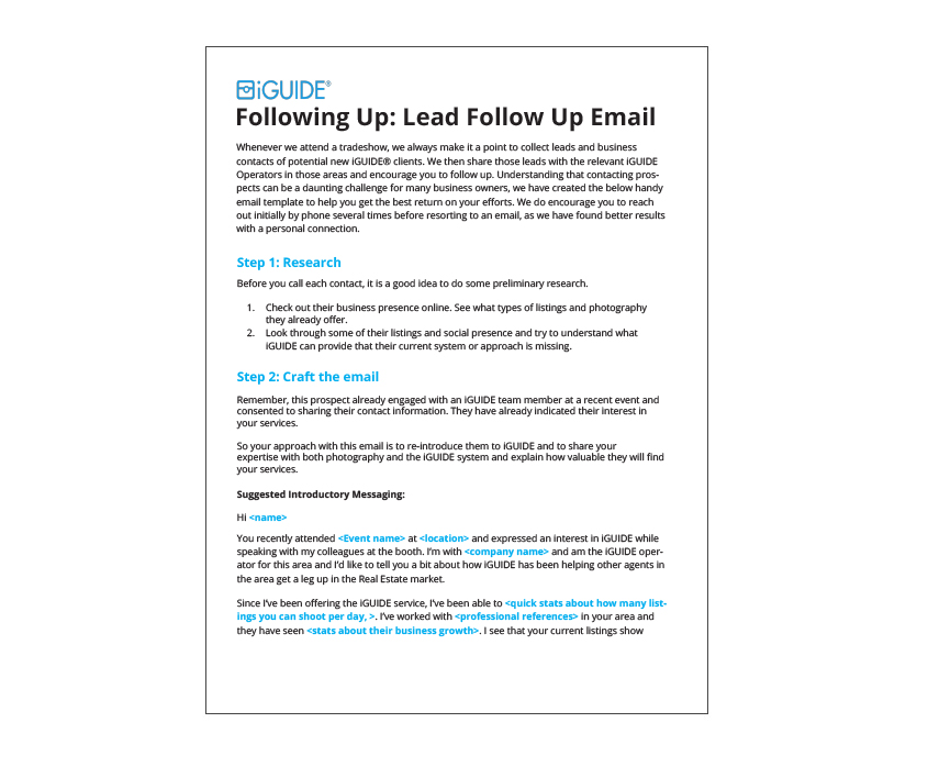 Follow Email Template