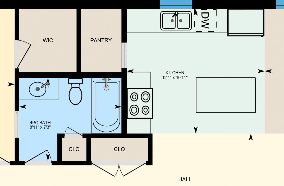 iGUIDE Premium Floor Plans<br>(Fixtures & Appliances)
