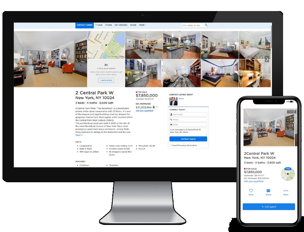 real estate listing website 3d tour