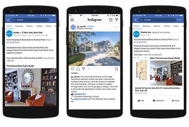 real estate 3d tour social media